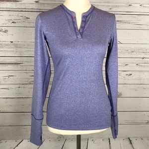 Nike Golf Sport Dri-Fit Purple Henley Top